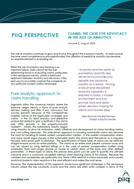 Piiq Perspective | August 2020